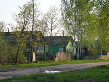 Spring in russian village. Spring landscape in russian village, Tverskaya region, Russia Royalty Free Stock Image