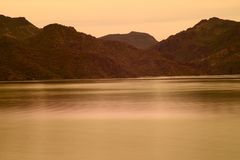 Spring at Saguaro lake in Arizona royalty free stock photography