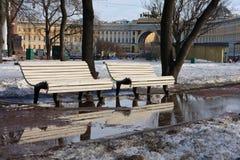 Spring in Saint-Petersburg Royalty Free Stock Photo
