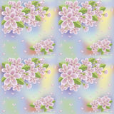 Spring sakura seamless wallpaper, vector Royalty Free Stock Image