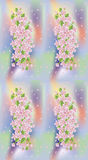 Spring sakura texture seamless wallpaper, vector Stock Images