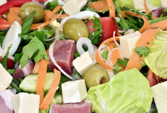 Spring salad background Royalty Free Stock Photography
