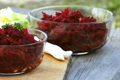 Spring salad of beetroot royalty free stock photography