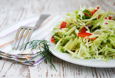 Spring salad with cabbage stock image