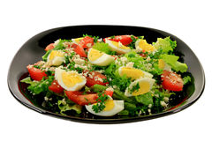 Spring salad with eggs Stock Images