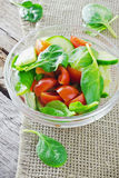 Spring salad of fresh vegetables Royalty Free Stock Photo