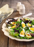 Spring salad with green pea, potato and eggs Royalty Free Stock Photography