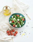 Spring salad with lamb's lettuce, mozarella and Royalty Free Stock Images