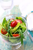 Spring salad with mixed salad Stock Image