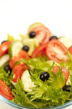 Spring salad. Spring salad with olives and tomatoes Royalty Free Stock Image