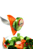 Spring Salad On White Stock Photography