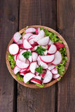 Spring salad with radish and parsley Stock Photo