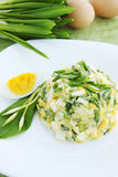 Spring salad with ramson Royalty Free Stock Images