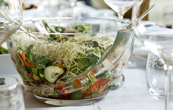 Spring salad on table Royalty Free Stock Images