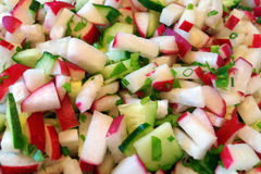 Free Spring Salad With Cucumbers And Radish Stock Photo - 71066150