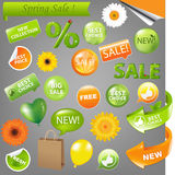 Spring Sale. Set, Vector Illustration Royalty Free Stock Photos