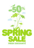 Spring sale. Stock Images