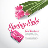 Spring sale advertising background template EPS 10 vector Stock Photo