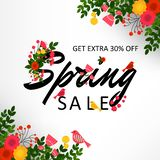 Spring sale  background Stock Images