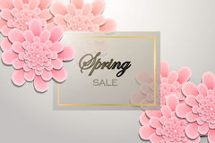 Spring sale background Stock Photo