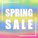 Spring Sale background. Can be used for cards, prints, cover design etc. Stock Image