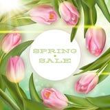 Spring sale Background. EPS 10 Stock Image