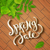 Spring sale background Royalty Free Stock Photo