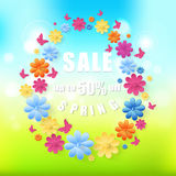 Spring sale background Vector eps10 Royalty Free Stock Image