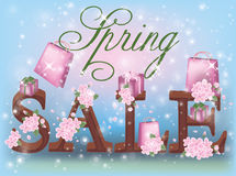 Spring sale background Stock Photography