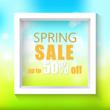 Spring sale background. Vector illustration. Stock Photos