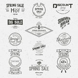 Spring sale badges logos and labels for any use Royalty Free Stock Image