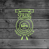 Spring sale badges logos and labels for any use Royalty Free Stock Photo