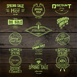 Spring sale badges logos and labels for any use Stock Photography