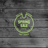 Spring sale badges logos and labels for any use Royalty Free Stock Images