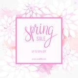 Spring sale banner Stock Image