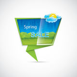 Spring sale banner Stock Images