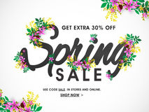 Spring Sale Banner, Poster or Flyer design. Royalty Free Stock Images