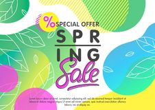 Spring sale banner royalty free illustration