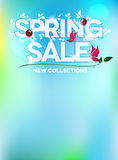 Spring sale blue fresh design Stock Images