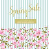 The spring sale card. Royalty Free Stock Photo