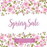 The spring sale card. Stock Photos