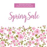 The spring sale card. Royalty Free Stock Images