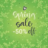 Spring sale colorful calligraphy stock illustration