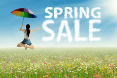 Spring sale concept Stock Photography