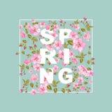 Spring sale concept. Royalty Free Stock Photos
