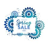 International Spring sale 3d Banner royalty free illustration