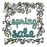 Spring Sale decorative  illustration. Stock Photos