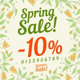 Spring sale design Stock Image