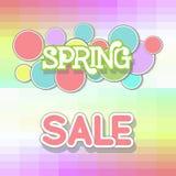 Spring Sale Design Illustration. Spring Sale Design. Colorful Vector Illustration eps10 Stock Images