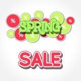 Spring Sale Design Illustration. Spring Sale Design. Colorful Vector Illustration eps10 Royalty Free Stock Images